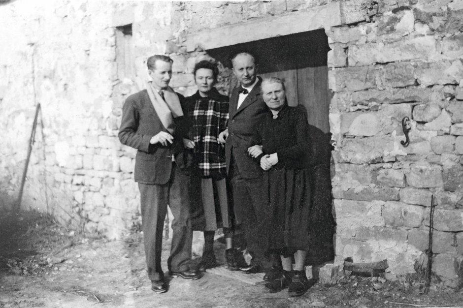 Catherine, Christian Dior et leur famille