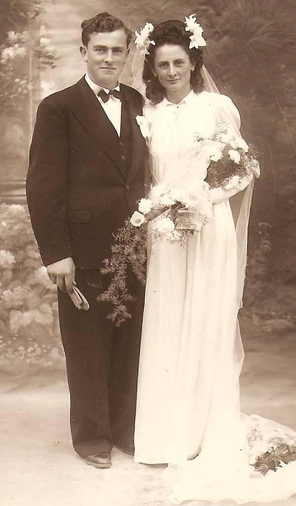 Papa et maman en 1946