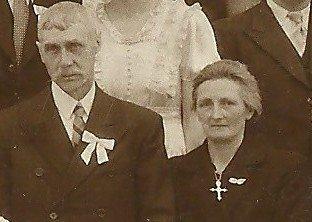 Joseph et Angélina, les parents de la mariée
