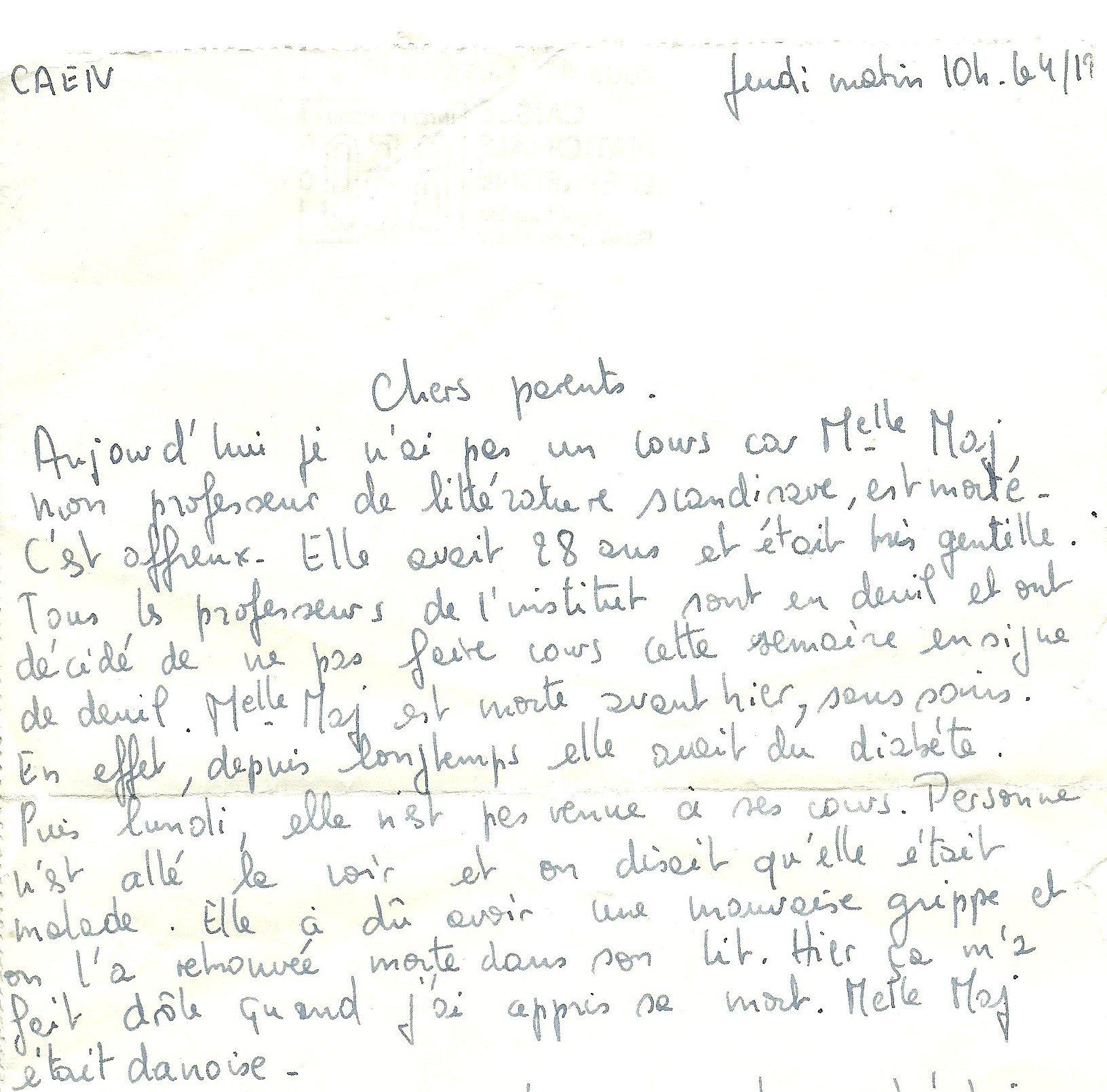 Maj lettre