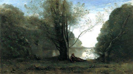 """""""La solitude, souvenir du Vigen"""", Jean-Baptiste Corot, 1866, Musée Thyssen-Bornemisza Madrid"""