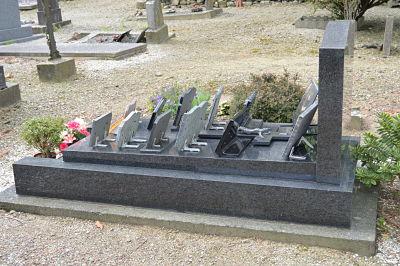 Le tombeau de Gabrielle et de François.