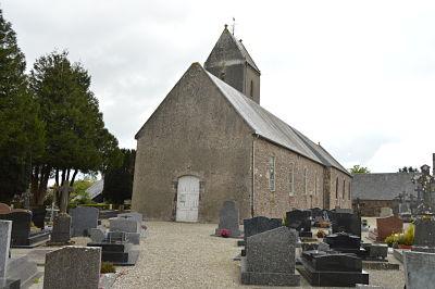 L'église d'Ouville à l'ombre de laquelle reposent les corps de Gabrielle et de François.