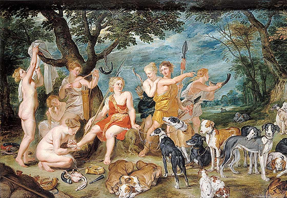 Diane et ses nymphes de Rubens