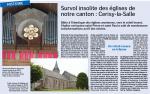 Survol insolite des églises de notre canton Cerisy la salle