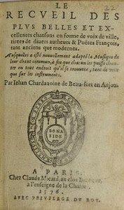 Page de couverture du recueil de chants, à la base des poèmes dont certains parvenus jusqu'à nous.