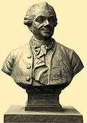 Buste de Pierre Poivre à l'entrée du Jardin Botanique de 37 ha.