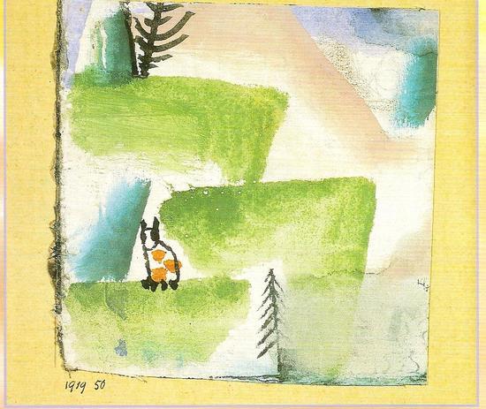 Merci à Paul Klee (1879-1940) qui aimait les chats et les a peints.