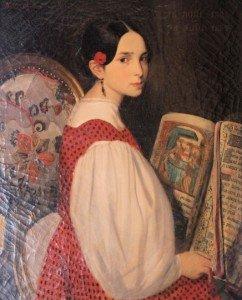 Léopoldine peinte par Auguste de Châtillon