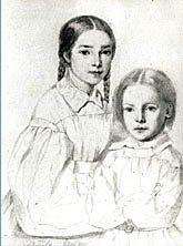Victor, Léopoldine et ...Alphonse Karr dans CROQUENOTES leopoldine-et-francois-victor-dessines-par-madame-hugo