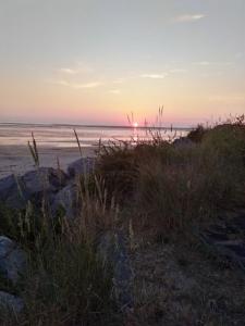 Coucher de soleil à Hauteville, le 7 juillet 2018