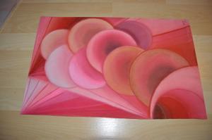Aubes roses. Pastels gras 1996