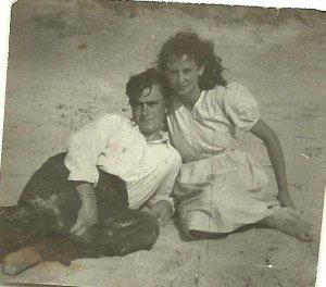 Papa et maman plage
